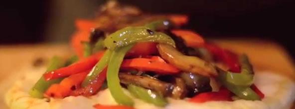 Quesadillas Vegetarianas con Queso Monterey Jack