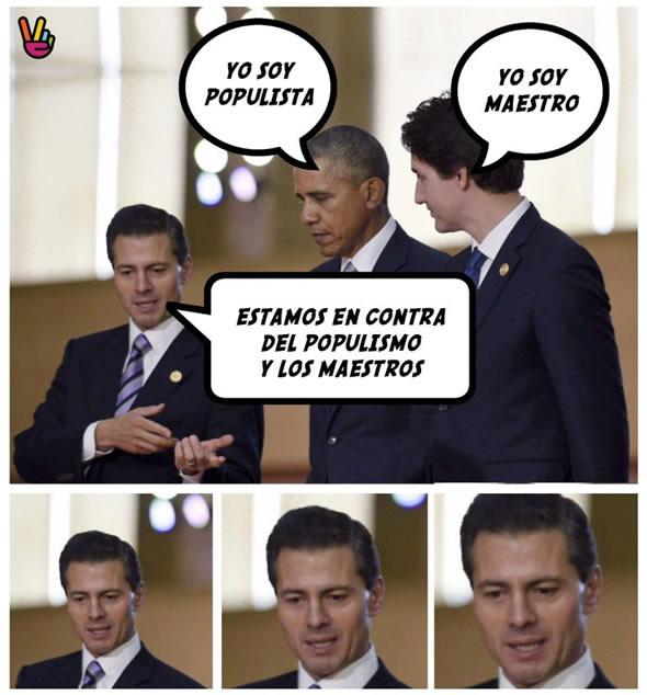 Los mejores memes y cartones de la visita de Peña Nieto en Canadá